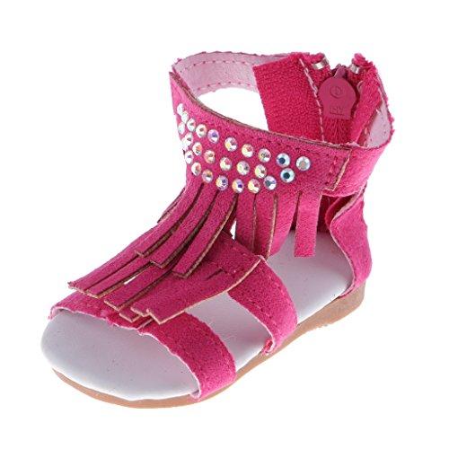 Gazechimp Hübsche Puppen Sandalen Schuhe, aus PU-Kunstleder, mit Reißverschluss, Outfit für 18'' American Girl Puppen Dress up