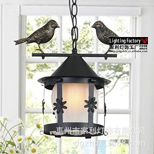 Ehime Kronleuchter Schmiedeeisen Vogelkäfig Restaurant Lichter Balkon Bar Gang dekorative Lampe Körpergröße 27 * 30 cm