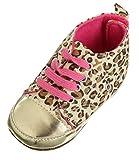 EOZY Dorado Suela Niño Bebé Leopardo Zapatos Del Pesebre Soft Caminar Edad 6-12 Meses