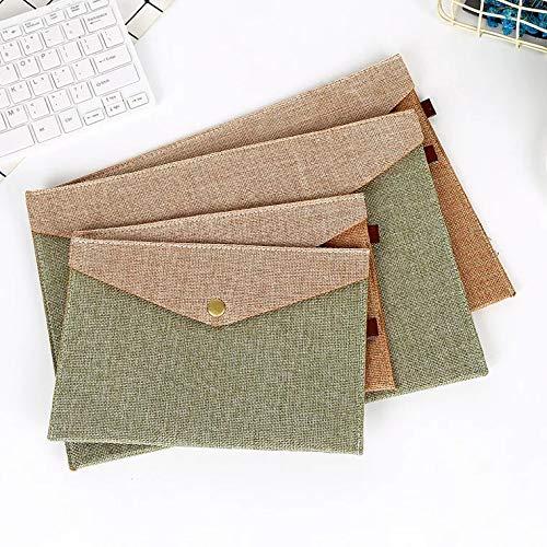 A4& A5Umschlag Datei Ordner Fächermappe Dokument Veranstalter Halter/Handtasche/Aktenmappe mit strapazierfähiges Aktentasche Dokument Tasche Papier Datei Ordner 4Stück (Datei-ordner Receipts)