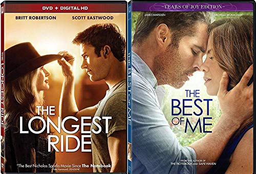 Tear of Joy with The Best of Me + The Longest Ride Romance Movie DVD Nicholas Sparks Set Double Feature Love Twice as Much Nicholas Sparks date night