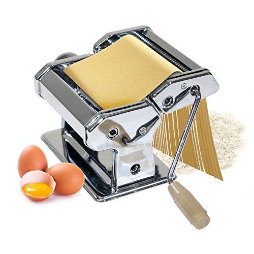 Nudelmaschine mit Kurbel und 3 Walzen aus Metall für Spaghetti, Manuell Pasta-Maschine Pasta-maker
