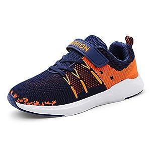 Unpowlink Kinder Schuhe Sportschuhe Ultraleicht Atmungsaktiv Turnschuhe Klettverschluss Low-Top Sneakers Laufen Schuhe Laufschuhe für Mädchen Jungen 28-37