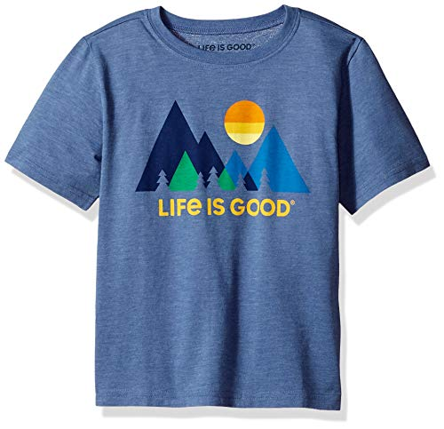 Life Is Good Boys Cool Tee Minimalist Landscapeape, Vintage Blue, XX-Large - Life Is Good Boys T-shirt