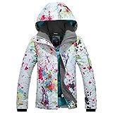 Damen Skijacke warm Jacke gefüttert Winter Jacke Regenjacke Weiß 9896 S