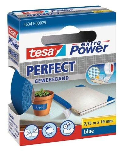 tesa extra Power / 563410002902 Bande adhésive Bleue 19 mm x 2,75 m (Import Allemagne)