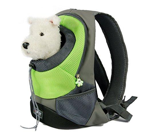 Zaino porta animali, traspirante a doppia spalla per cani, gatti e cuccioli, borsa e sacca da trasporto per ciclismo, escursionismo, viaggio, shopping