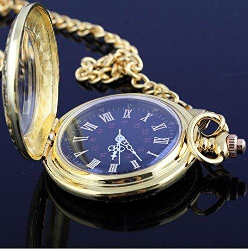 Gold Taschenuhr römischen Ziffern Anhänger antik Sammlerstück Halskette Stil Armband Metall Kette Dekoration Geschenk Vintage Uhr Charm Schmuck