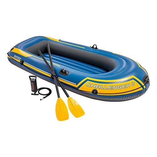 Intex Challenger 2 Set Schlauchboot - 236 x 114 x 41 cm - 3-teilig - Blau / Gelb -