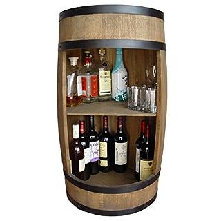 WEECO Fassbar in braun. Stilvolle Hausbar aus Holz, Exklusive Weinfass mit Regal. Höhe 81cm - Hersteller