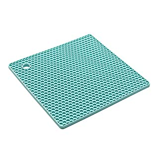 XIYAO Silicone Rubber Mat, Hot Pan Pot Hot Pads Counter Mat Heat Resistant Tablemat Placemats - 7.2x7.2 Square