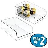 mDesign 2er-Set Aufbewahrungsbox – stapelbare Behälter für Konserven und abgepackte