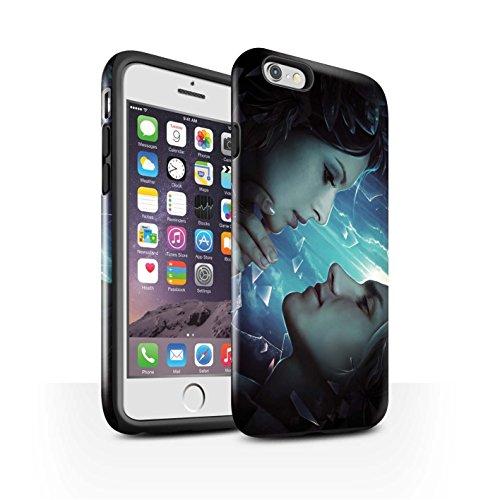 Offiziell Elena Dudina Hülle / Glanz Harten Stoßfest Case für Apple iPhone 6S / zerstreut Muster / Liebe Kunst Kollektion Glasscherben