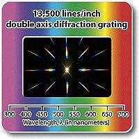 Confezione da 10 Slide Reticolo di Diffrazione – Lineare Doppio Asse 13,500 Linee/mm