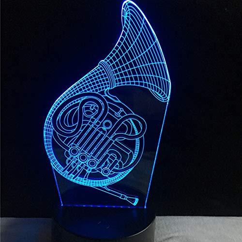 WANGJIA 3D Musik Saxophon Usb Led Lampe Trompeten Form 7 Farben Ändern Nachtlicht Kind Urlaub Geschenk Künstlerische Dekor Kind Spielzeug -