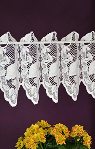 Albani - tenda a pannello su misura, stile shabby chic, altezza 28 cm, larghezza 12 cm, passaggi a scelta