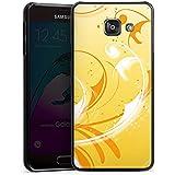Samsung Galaxy A3 (2016) Housse Étui Protection Coque Vrilles Ornements Jaune