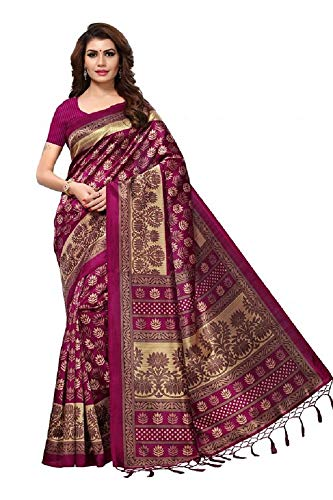 Indian Bollywood Wedding Saree indisch Ethnic Hochzeit Sari New Kleid Damen Casual Tuch Birthday Crop top mädchen Cotton Silk Women Plain Traditional Party wear Readymade Kostüm (Pink) -