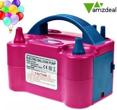Amzdeal Inflador de globo, electrónica bomba inflable de globo, alta potencia