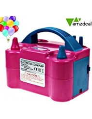 amzdeal- 600w gonfleur électrique ballon électrique pompe de gonflage deux buses d'air du ventilateur portable