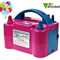 Amzdeal Inflador globo electrico para inflar globos hinchador globos electrico para fiestas 600W Alta potencia, Color rosado