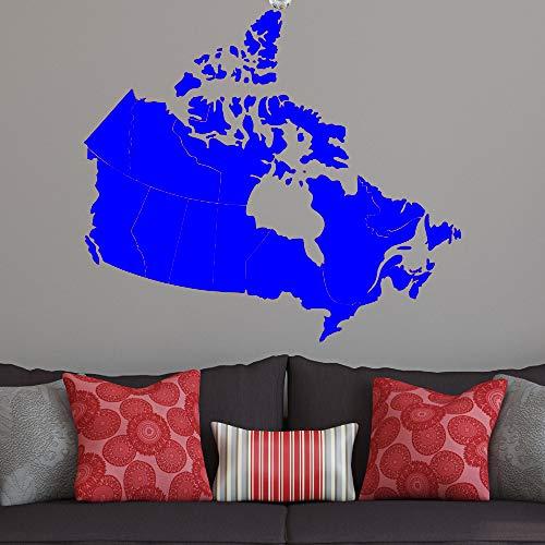 xingbuxin Kanada Karte 36w Wandtattoo patriotische Karte Kunstwerk Kanada Ahornblatt Vinyl wasserdichte Selbstklebende Wandaufkleber Haushaltsgegenstände 2 48x42cm
