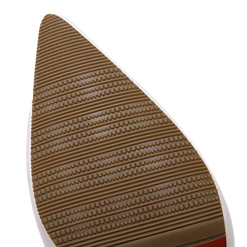 SHINIK Damen Pumps Lackleder Schuhe High Heel Spitz Zehen Sandalen Temperament Flache Mund Sets von feinen Schuhen 4 Farben Optional Nude