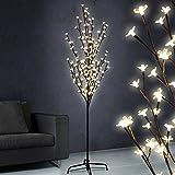 Jago - Arbre Lumineux à 160 LED Fleurs Blanc Chaud Hauteur 180 cm (Taille au Choix)