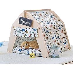 shanzhizui DIY Haustier Haus Haustier Zelt Hundehaus Katzen-Nest Hundebett Frühling und Sommer Herbst und Winter Vier Jahreszeiten verfügbar Abnehmbar und waschbar, L