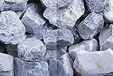 Kies Splitt Zierkies Edelsplitt Steinschlag Kristall Blau SS, 30-60 mm