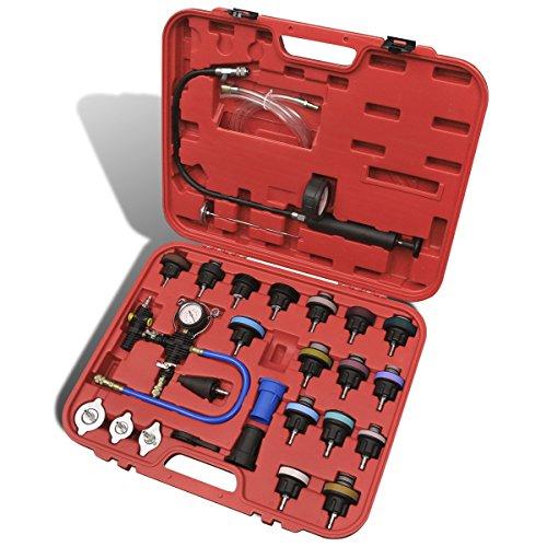 Tester pressione del radiatore con spurgo vuoto e kit ricarica 27 pz