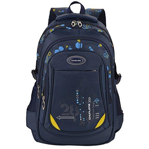 Schulranzen Jungen, Coofit Schulrucksack Jungen Teenager 5. klasse Schultaschen Casual Daypack Travel Rucksäcke