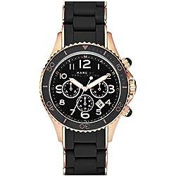 Marc Jacobs MBM2553 - Reloj para mujer con correa de acero/plastico, color negro/gris