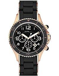 Marc Jacobs MBM2553 - Reloj para mujer con correa de acero/plastico, color negro / gris