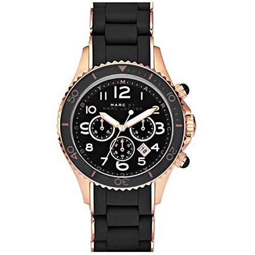 Marc Jacobs Unisex-Armbanduhr Chronograph Quarz verschiedene Materialien MBM2553 (Marc Jacobs Black Watch)