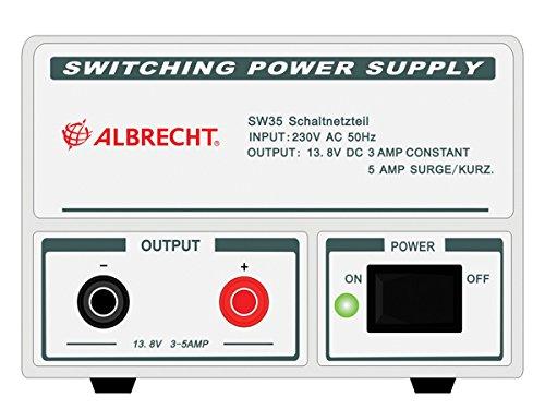 Albrecht SW 35-Adapter DE Puissance & Wechselrichter (Innen, AC auf DC, Radio, weiß) (Cb-funk-power)