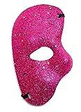 EVRYLON Maschera metà Viso per Carnevale O Halloween Unisex da Uomo O Donna Mascherina metà Volto Fantasma Dell'Opera Colorata con Glitter Viola Giochi E Accessori Cosplay per Travestimenti E Costumi