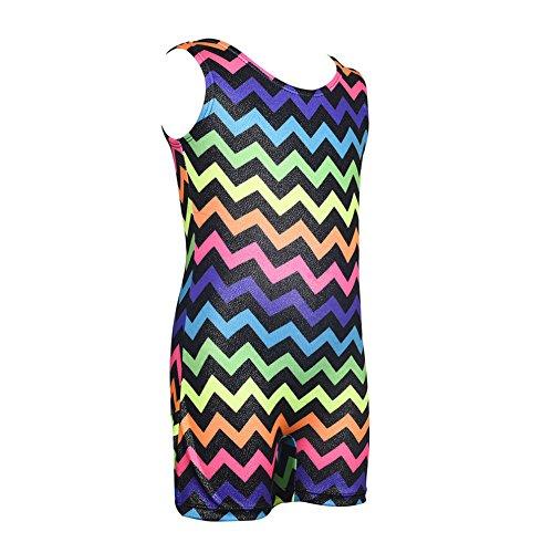 eless Leotard Mode Sparkle Rainbow Biketard für Mädchen Gymnastik Tanz Kostüme (Biketard Kostüm)