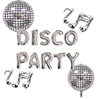‏‪LaVenty Set of 5 Disco Party Balloons Disco Fever Party Decoration 70s Disco Party Decoration Saturday Night Fever Party Decorations Disco Ball Dance Birthday Party Supplies‬‏
