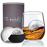 Crystal Whiskey Glass & XL Ice Ball Mould Gift Set - The Perfect
