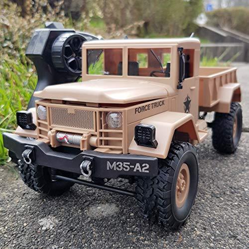 RAYLINE RC Ferngesteuertes Auto Monster Truck kinderspielzeug Militär LKW USA M35-A2