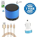 #8: Captcha S10 Portable Subwoofer Wireless Bluetooth Speaker With Dual Usb Car Charger & Fiber 3 in 1 USB Charging Cable with 8 Pin Lightning, USB Type C, Micro USB Charging cable Compatible with Xiaomi, Lenovo, Apple, Samsung, Sony, Oppo, Gionee, Vivo Smartphones (1 Year Warranty)