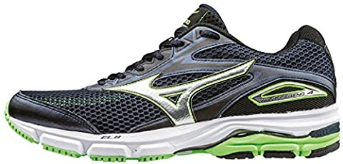 Mizuno Wave Legend 4, Chaussures de Running Entrainement Homme, Bleu (Dress Blues/Silver/Green Gecko), 44