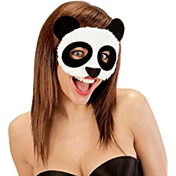 Media Antifaz Panda | Careta de Peluche | Mascarilla Oso Panda | Máscara Animal