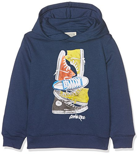 Converse Jungen Stacked Remix Pull Over Pullover, Blau (All Star Navy B9P), 2-3 Jahre
