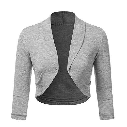 (i-uend Ausverkauf Damen Mode Sommer Herbst Beiläufige Schal Übergröße Solide Bolero Zucken Open Front Beschnitten Mini Büroarbeit Strickjacke)