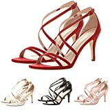 Lailailaily?High Heel?Strappy Party Prom?Sandals?Women's?Ladies?Ankle?Buckle?Shoes