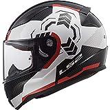 Motorcycle helmets LS2 FF353 RAPID GHOST White Black Red, Blanc/Noir/Rouge, S