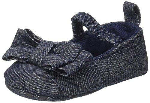 BIMBUS 171ielp002, Petites chaussures pour nouveau-né bébé fille Blu (Blu Scuro Jeans 01)