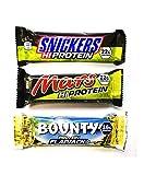 Mars Spezial Protein 18 Riegel MIX BOX - Snickers HI Protein, Mars Hi Protein, Bounty Flapjack Protein. Super als Eiweiß Snack oder Riegel geeignet.
